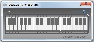 Click to view Desktop Piano & Drums 2011.1 screenshot