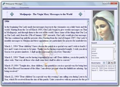 Click to view Medjugorje Messages 2012 screenshot